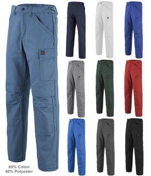 Pantalon de Travail Adolphe Lafont, Modèle Basalte, Coton Majoritaire