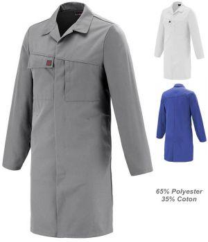 Blouse de Travail Homme Adolphe Lafont, 65% Polyester, 35% Coton