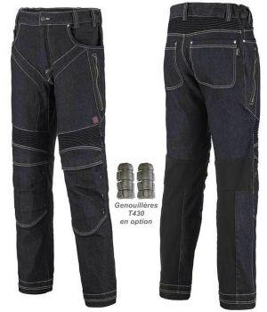 Pantalon Jean de Travail Adolphe Lafont, Modèle Speed, Bleu Indigo