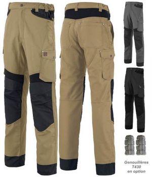 Pantalon de Travail Adolphe Lafont, Modèle Rotor, Ceinture élastiquée côtés