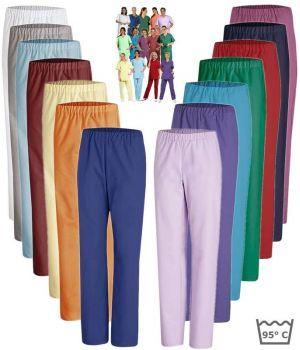 Pantalon médical couleur homme et femme, Adapté au lavage industriel