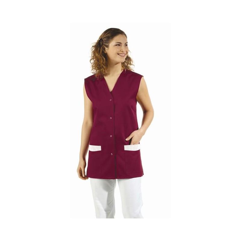 blouse courte femme sans manche col en v bouton pression. Black Bedroom Furniture Sets. Home Design Ideas