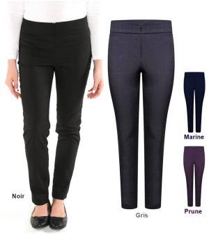 Pantalon Femme, Fermeture à Glissière Confort, Jambe Fine