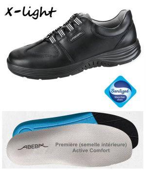 Chaussures Homme et Femme, Lacets, Cuir noir, Embout acier, Active Comfort