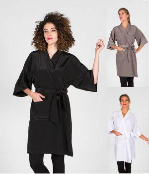 Kimono Femme, Ceinture à la Taille, Poche Latérale, Poche manche