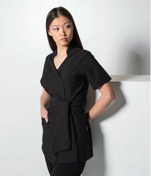 Blouse Femme Professionnelle, Coupe Kimono, Zip Latéral Masqué