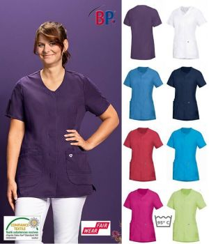 Blouse Médicale Femme, A Boutonner, Tissu Stretch Confort, Peut Bouillir