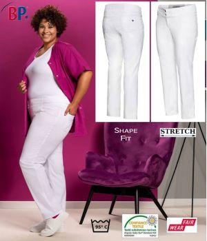 Pantalon Femme ShapeFit Blanc, Confort Stretch Liberté de Mouvement