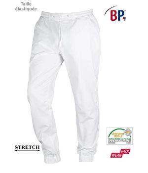 Pantalon Blanc Super Confort Homme, Stretch, Taille élastiquée