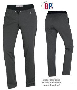 Pantalon Super Confort Femme, Anthracite, Taille élastiquée