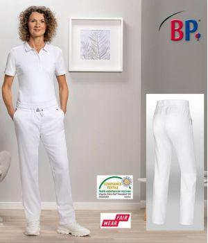 Pantalon Blanc Femme, Super Confort Stretch, Taille Elastiquée
