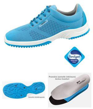 Chaussures de Travail, Look Fashion, Textile Tricoté Bleu