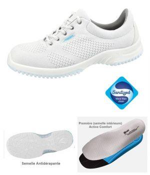 Chaussures de Travail, Look Fashion, Textile Tricoté Blanc