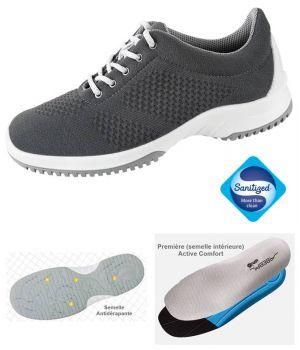 Chaussures de Travail, Look Fashion, Textile Tricoté Anthracite, Femme et Homme