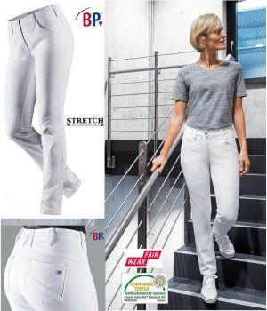 Jean Femme Blanc, 5 poches, Tissu Stretch, Liberté de Mouvement