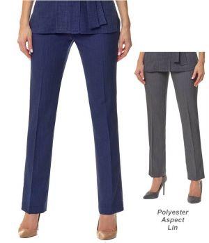 Pantalon Esthéticienne, Coiffeuse, Jambe Etroite, Polyester Aspect Lin