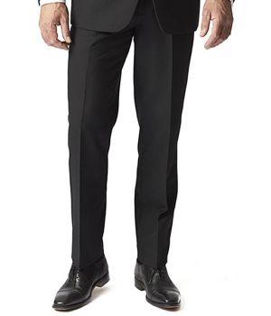 Pantalon de smoking Homme, Noir, Polyester, Laine et Lycra