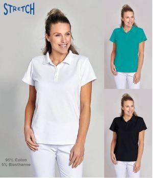 Polo Femme, Taille Marquée, Coton et Stretch, Très confortable