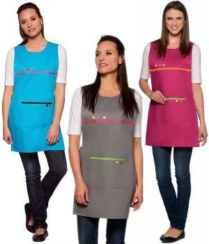Chasuble Tricolore, Réglable au côté, Pressions décoratives, Taille unique