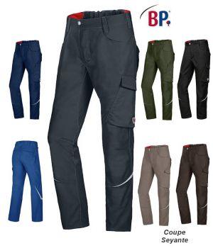 Pantalon de Travail Homme BP, Coupe Seyante, Taille Extensible au Dos