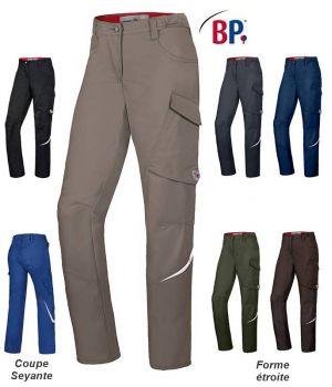 Pantalon de Travail Femme BP, Coupe Seyante, Taille Extensible
