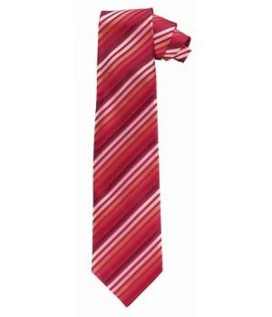 Cravate, rayures Rouge et blanc, lavable
