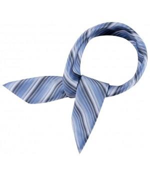 Foulard  femme rayures bleues, lavable