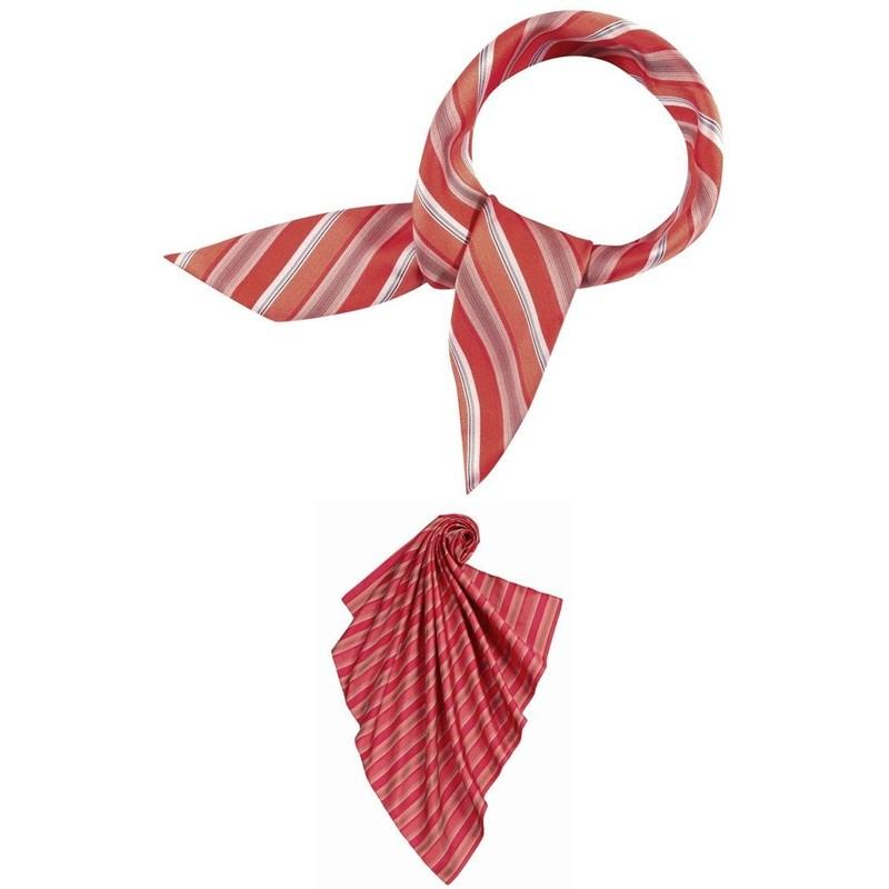foulard femme rayures rouge et gris lavable. Black Bedroom Furniture Sets. Home Design Ideas