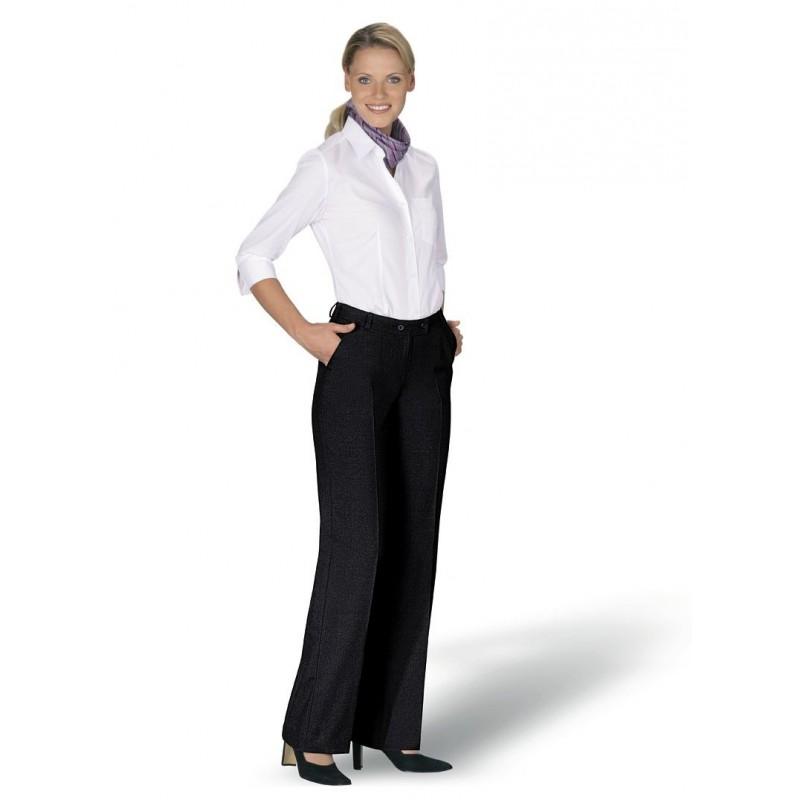 pantalon femme chic  coupe droite anti bouloche protection teflon laine et trevira entretien facile