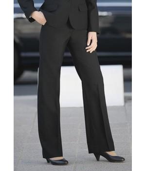 Pantalon femme, Noir  coupe droite, anti bouloche,  laine et Trevira