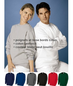 Sweat femme et homme, teinture de qualité, Blanc ou couleur