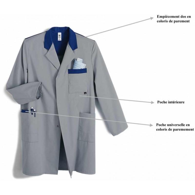 blouse homme bicolore solide et entretien facile polycoton. Black Bedroom Furniture Sets. Home Design Ideas