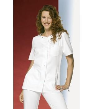 Tunique blanche femme manche courte, Entretien facile, peut bouillir, coton