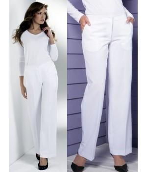 Pantalon blanc, élégant et parfaitement bien ajusté, Polyester