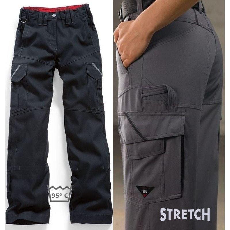 pantalon travail femme stretch confort grand teint robuste. Black Bedroom Furniture Sets. Home Design Ideas