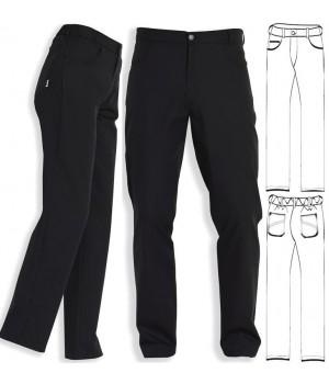 Pantalon noir homme et femme, coupe jean, PolyCoton, Noir