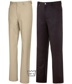 Pantalon homme et femme, coupe jean, couleur