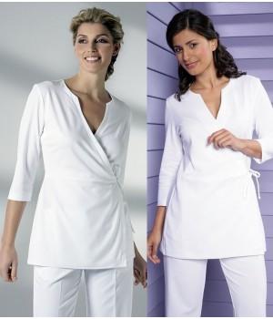 Elégant cache-coeur, Blanc, style Kimono, Très confortable, Manches 3/4