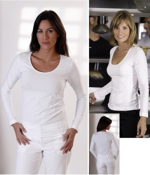 T-shirt blanc, Manches longues, Taille S