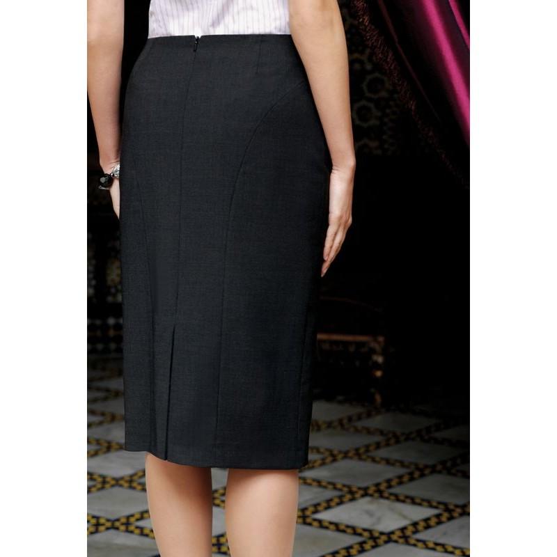 383718e307f Jupe droite longue noire jupe cuir courte