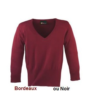Pull sweater femme Bordeaux, Taille S Manches 3-4, Stretch confort