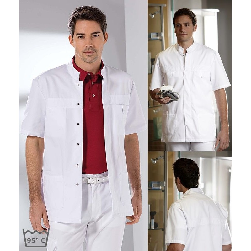 Homme Pression Chemise Blanche Chemise Bouton b7mY6gvIyf