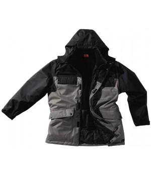 Parka, Taille M, couleur Gris et Noir, Doublure intérieure polaire.