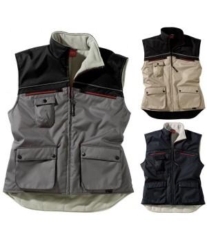 Gilet chaud pour le froid, Fermeture devant zippée, Nombreuses poches, Doublure intérieure polaire