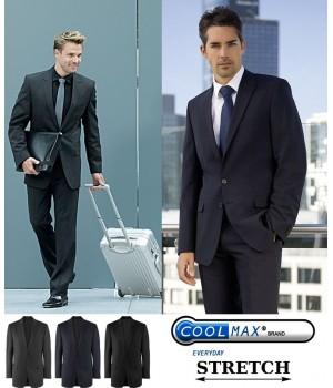 Veste Homme grand confort Coolmax et Stretch, laine vierge et polyester