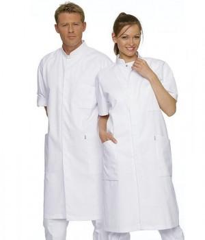 Blouse médicale homme et femme, Manche courte raglan, Pressions sous patte