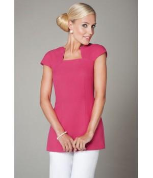 Tunique femme à manches courtes, polyester bi-stretch confort