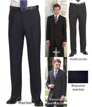 Pantalon homme, confortable et facile d'entretien, pour une apparence impeccable