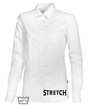 Chemisier Blanc manches longues,Stretch liberté de mouvement, peut bouillir