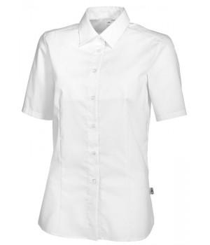 chemisier femme manches courtes chemisiers blanc ou couleur biomidi. Black Bedroom Furniture Sets. Home Design Ideas